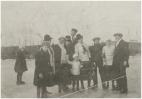 Winterpret op de Beemd in 1917